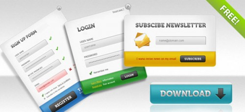 Login Panels, Signup, Subscribe Forms Pack