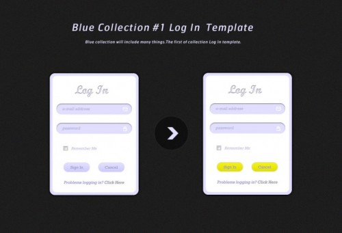 Web Element Log In Template