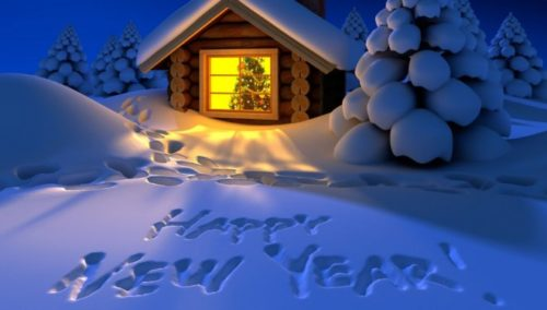 Christmas Night Background for New Year 2015