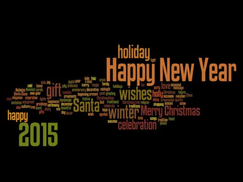 New Year Greeting Ecards Wallpaper 2015