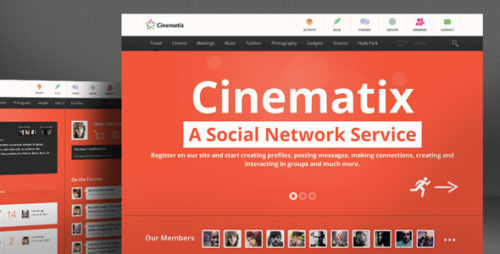 Cinematix - BuddyPress WordPress Theme