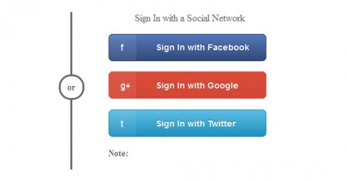 Sign In with a Social Network
