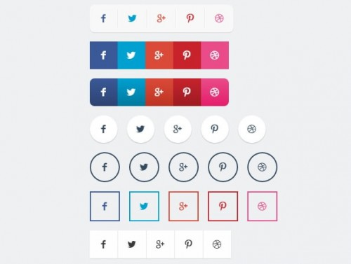 Various Share Button Styles