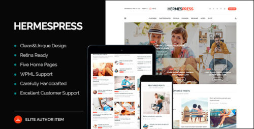 HermesPress - Responsive WordPress Blog Theme