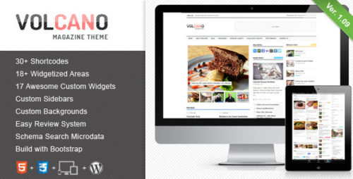 Volcano - Responsive WordPress Magazine, Blog Theme