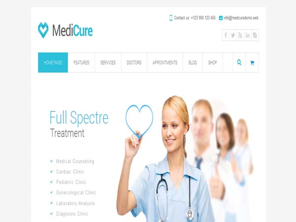 MediCure - Medical WordPress Themes